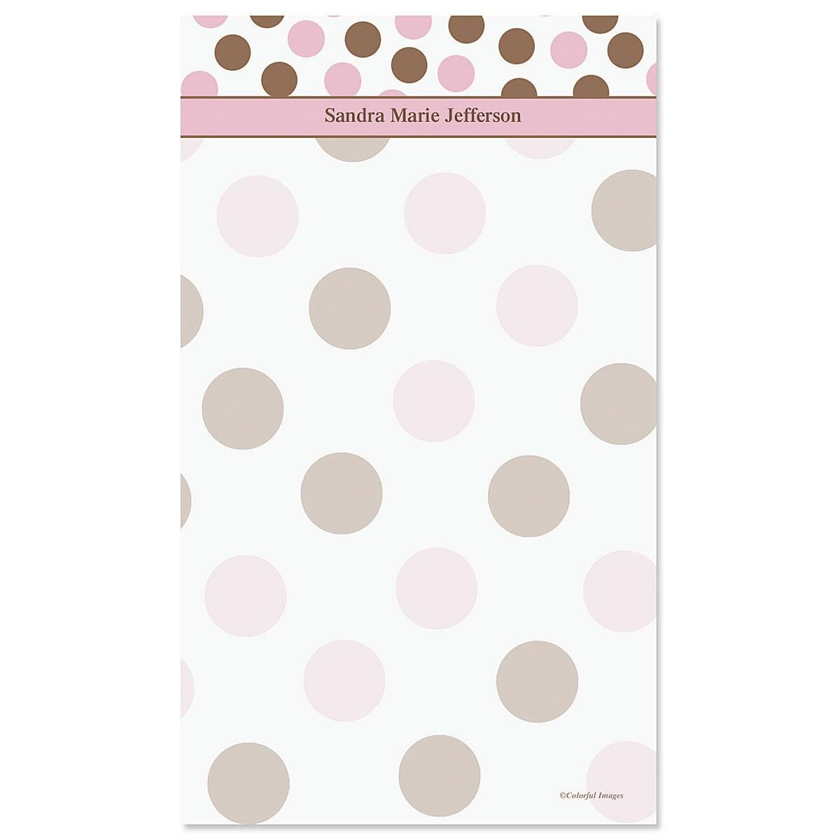 Pink & Brown Custom Memo Pads