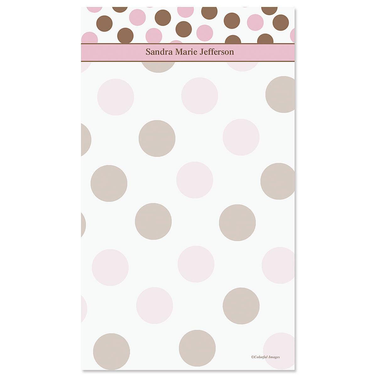 Pink & Brown Notepad