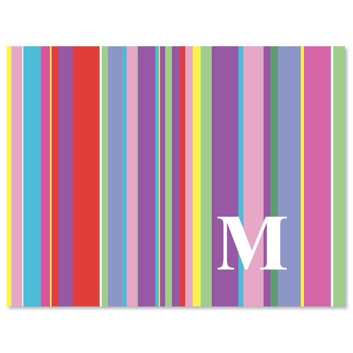 Bold Initial Custom  Note Cards