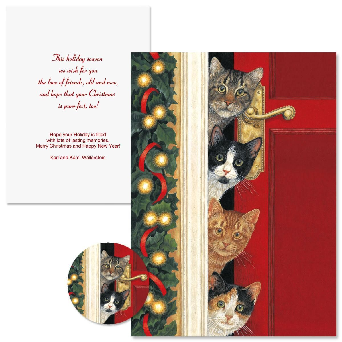 Whiskered Welcome Christmas Cards -  Nonpersonalized