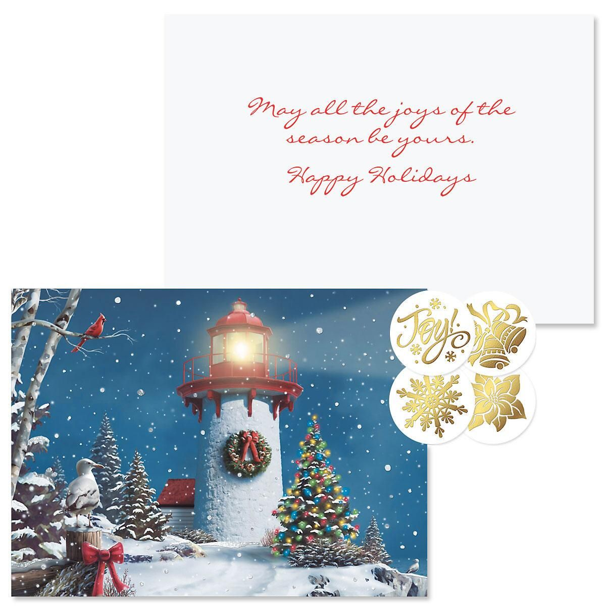 Snowflake Jewels Christmas Cards -  Nonpersonalized