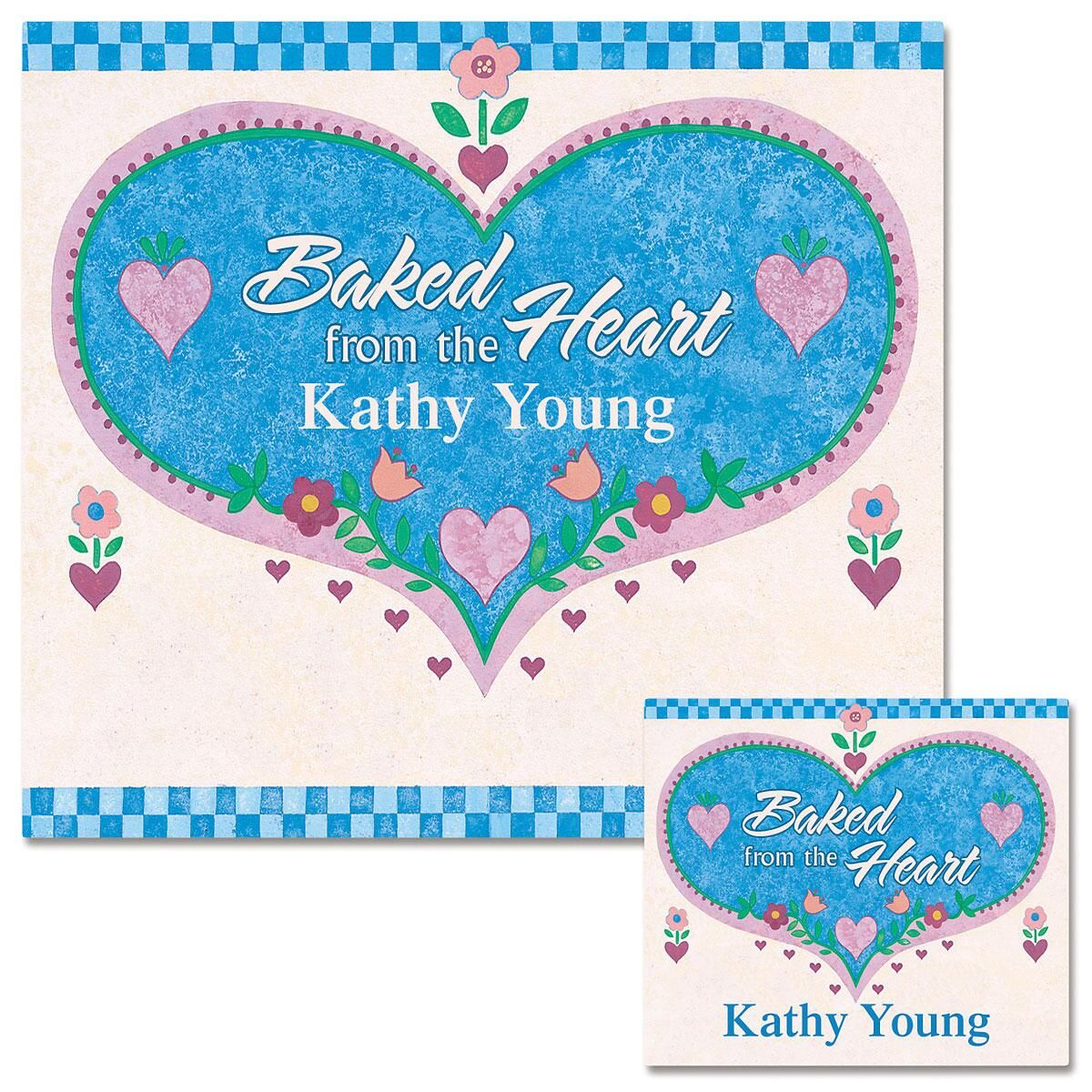 Baked from the Heart Canning Labels - Small