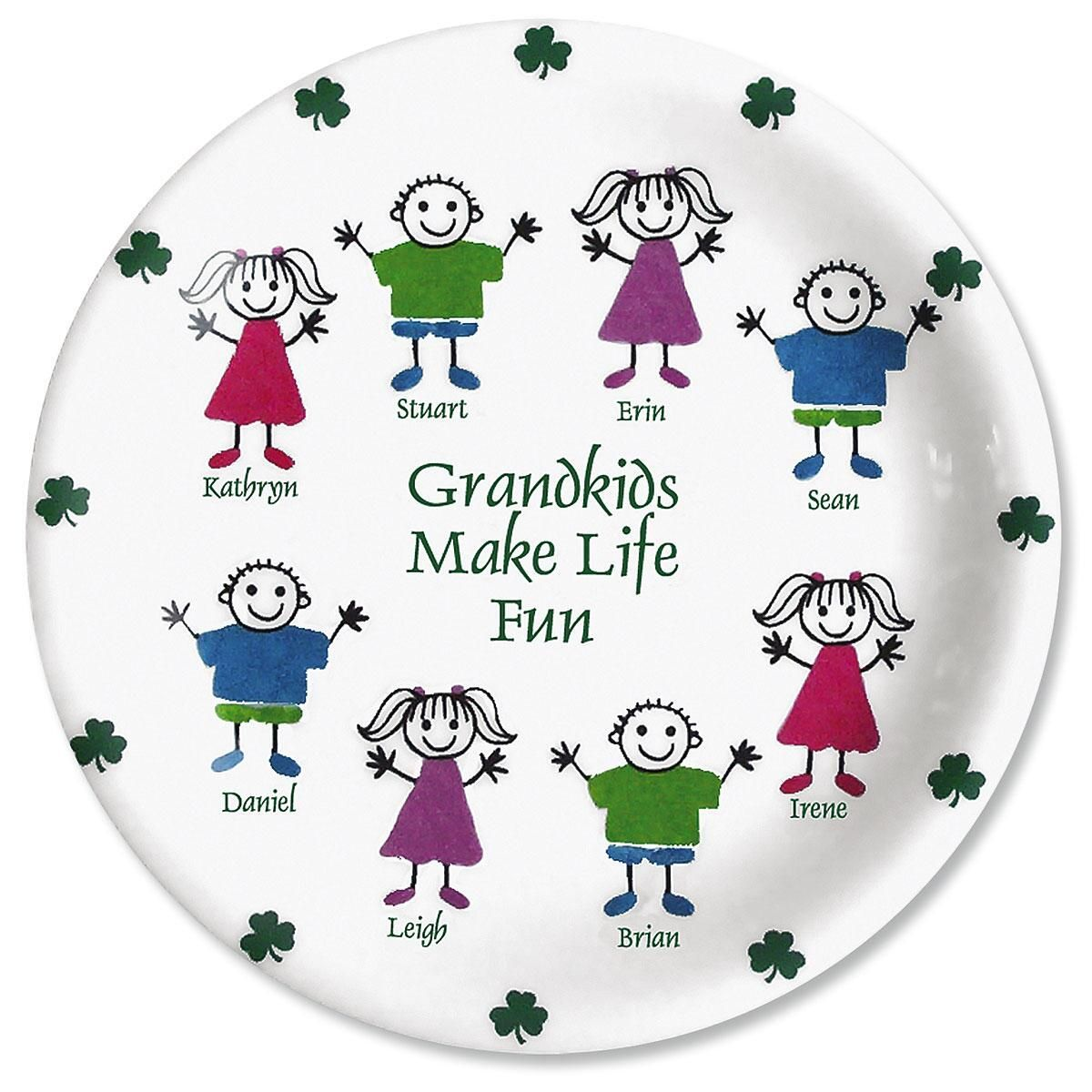 Irish Grandkids Personalized Plate