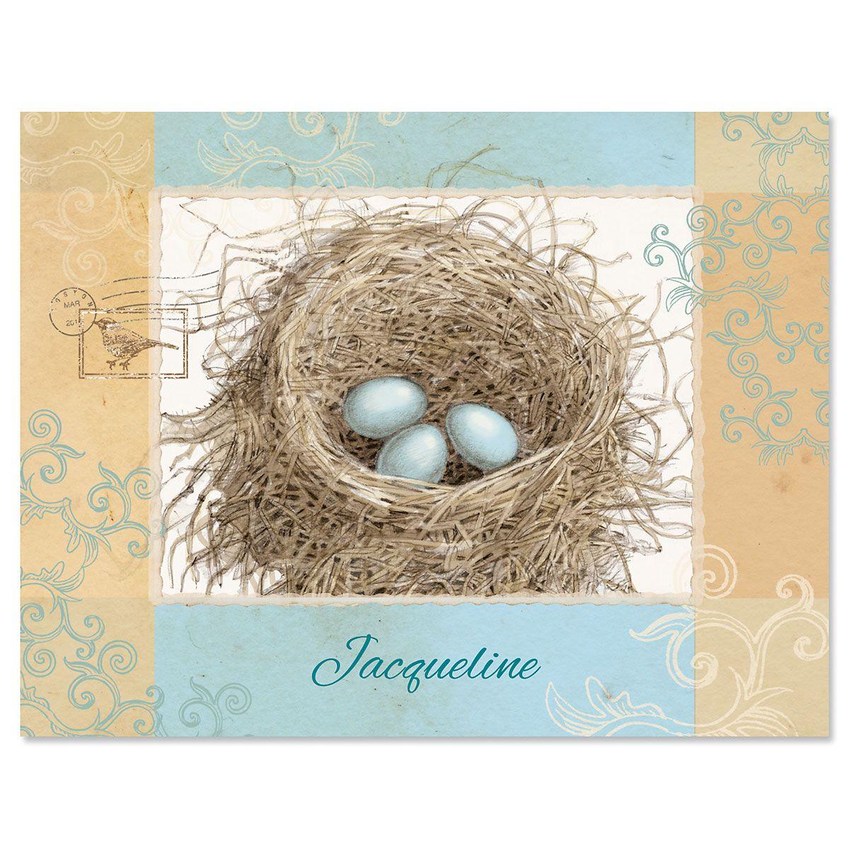 Blue Nest  Custom Note Cards