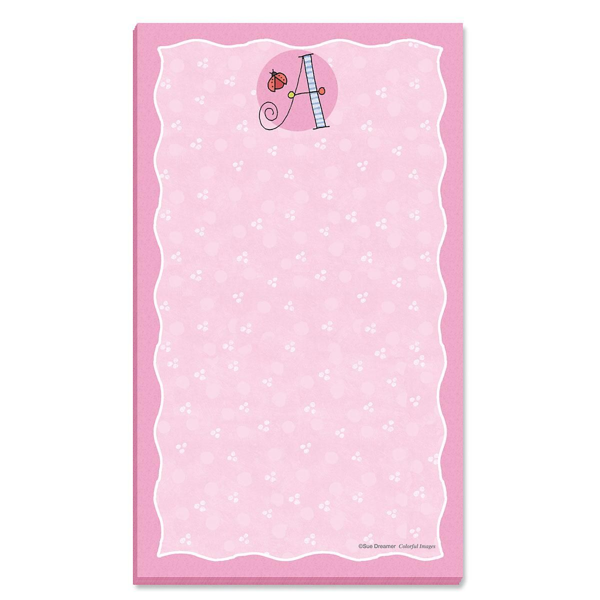Sue Dreamer Initial Notepad