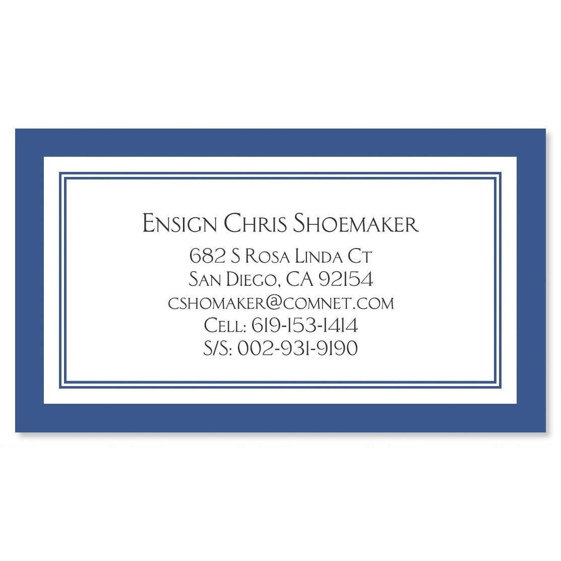 Luxe Navy Crisp Business Cards