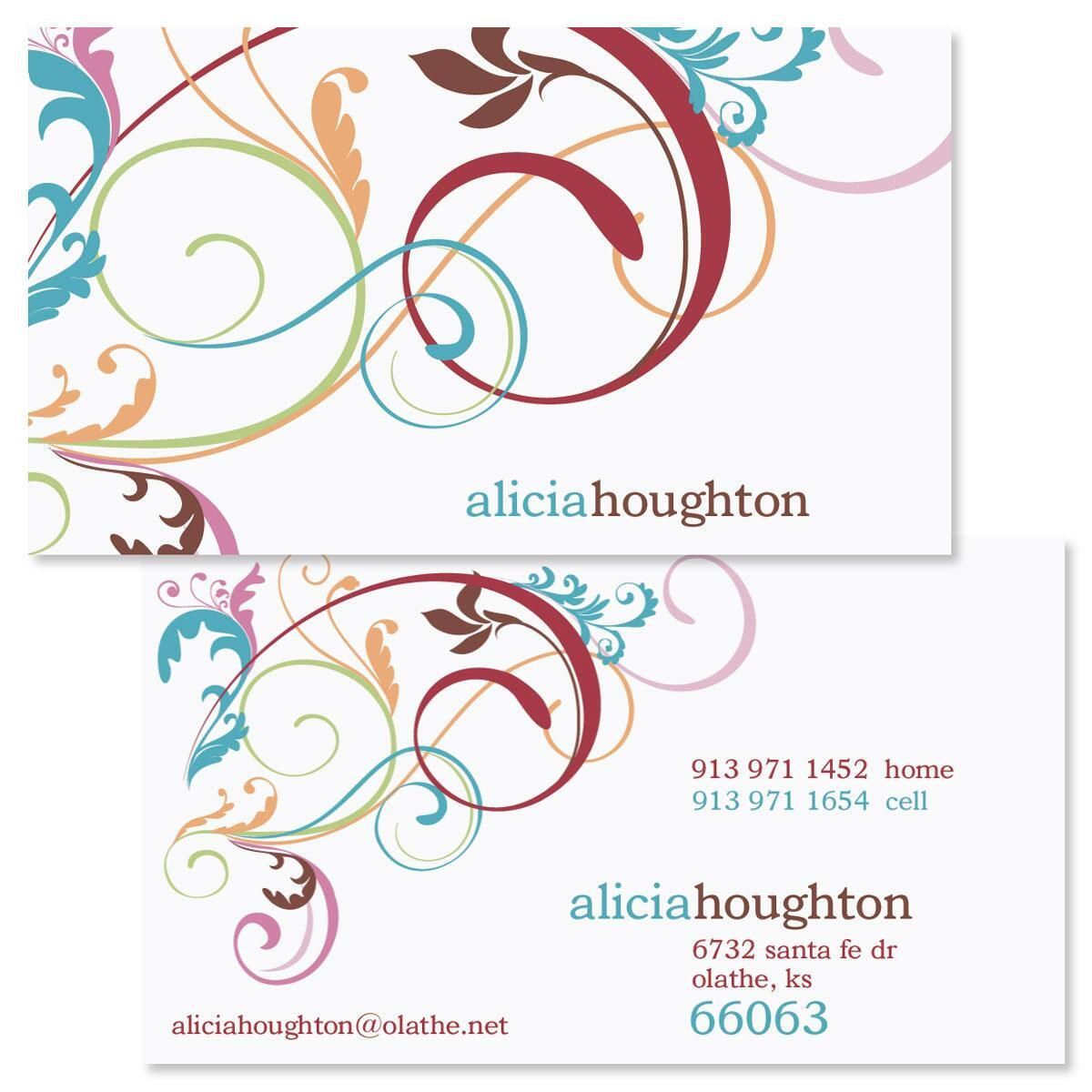 Fantasia Double-Sided Business Cards