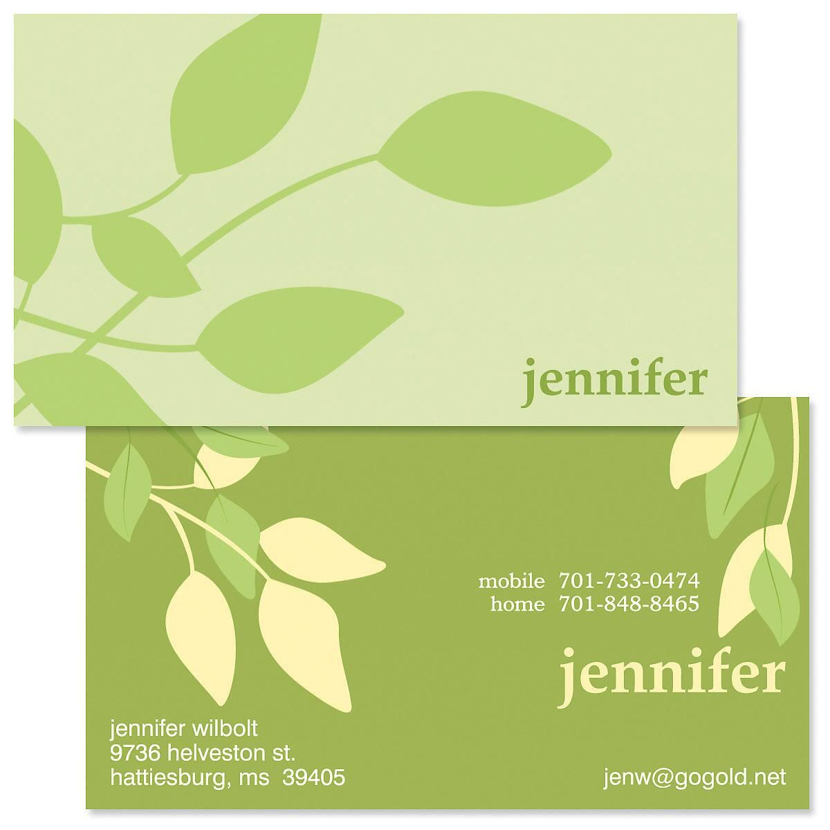 Sage Advice Double Sided Business Cards | Colorful Images