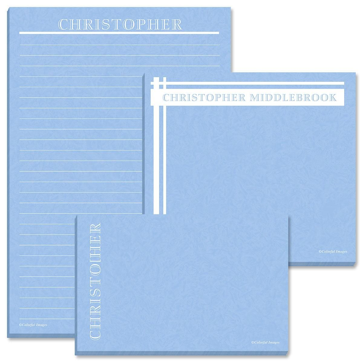 Maurice Lined Memo Pads Trio