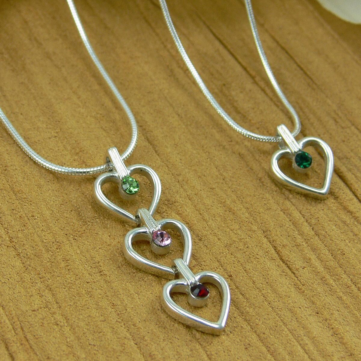 Each Additional  Birthstone Heart Charm