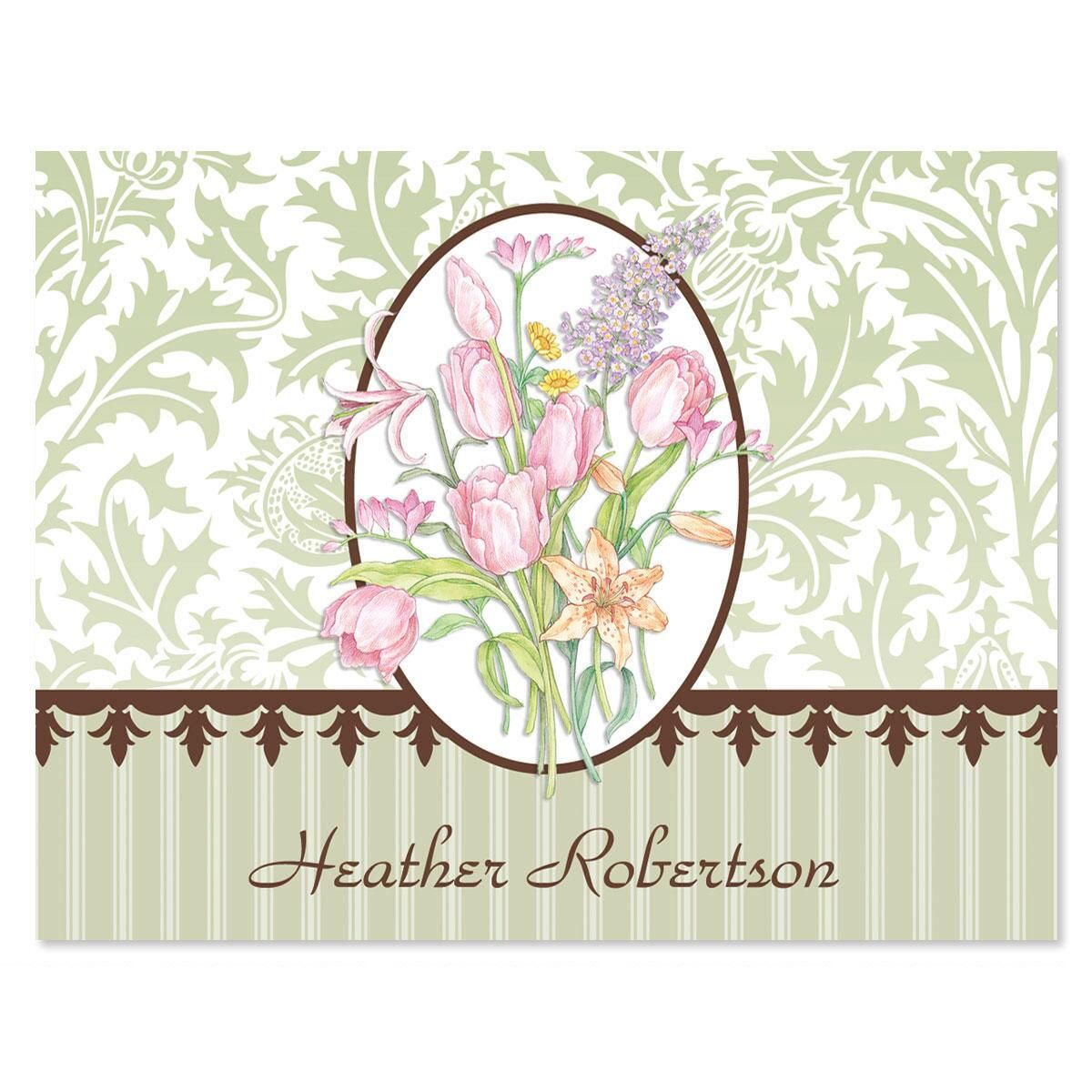 Sage Garden Personalized Note Cards