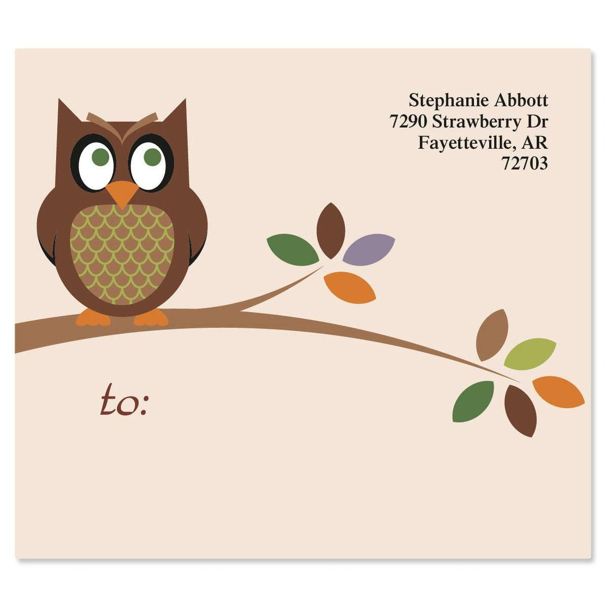 Owl  Package Labels