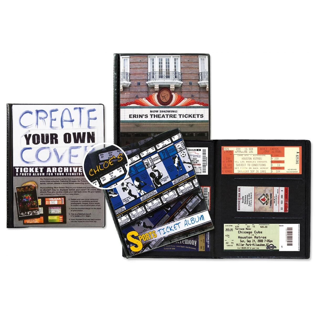 Personalized Sports Ticket Album