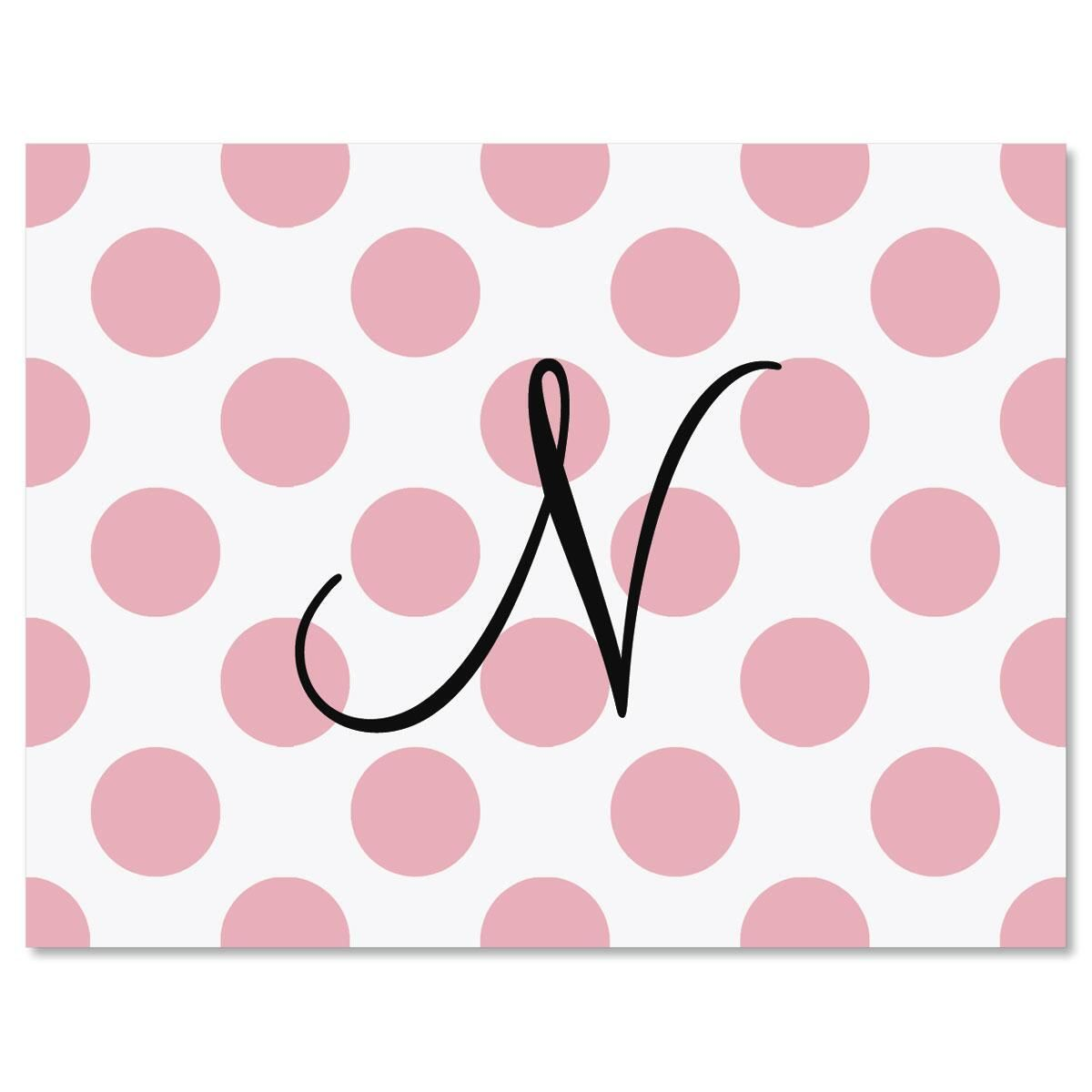 Dots Initial  Personalized Note Cards