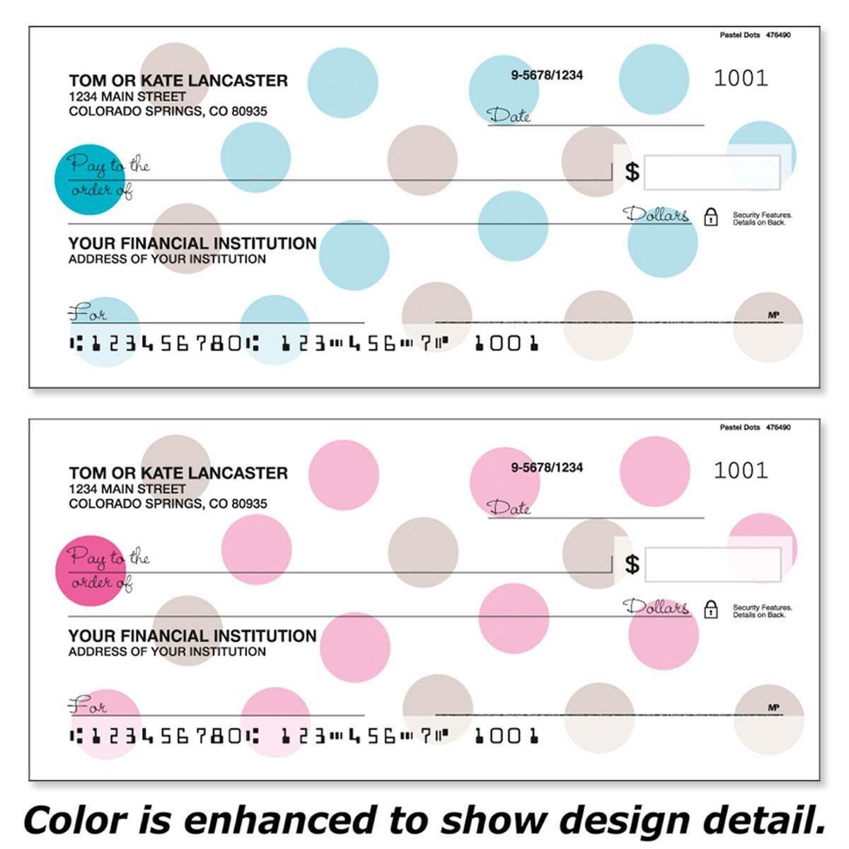 Pastel Dots Personal Checks