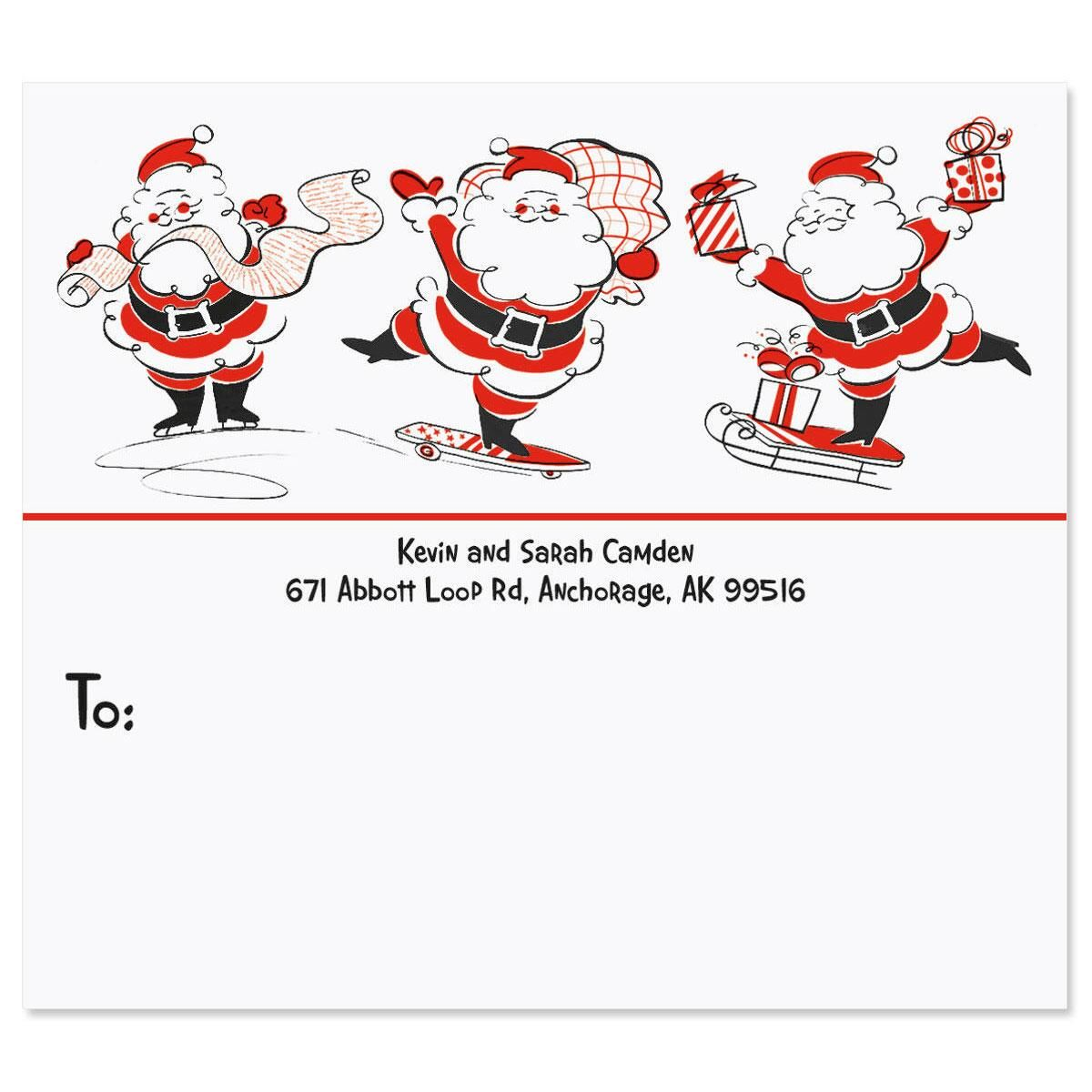 Silly Santa Package Labels