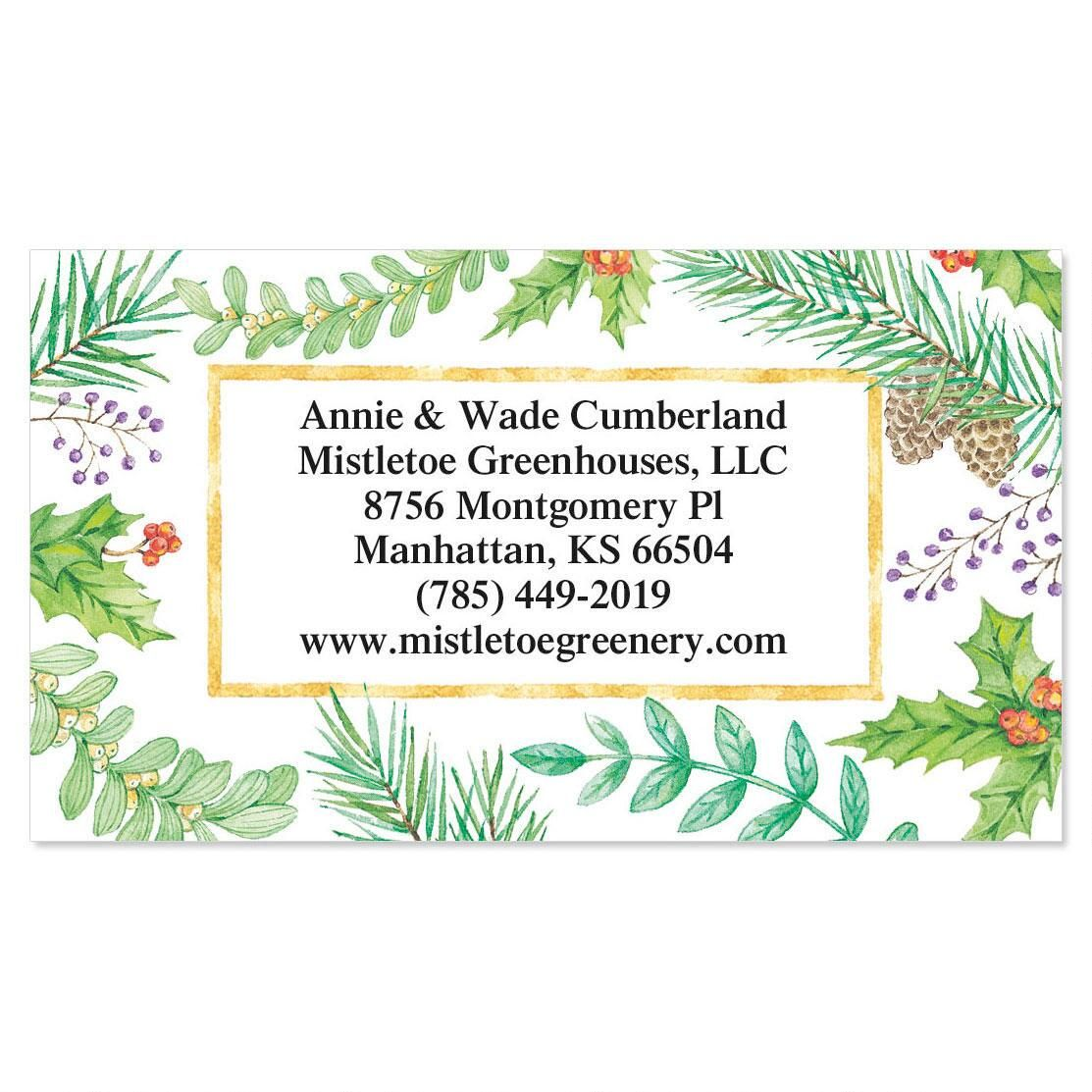 Christmas Greenery  Business Cards