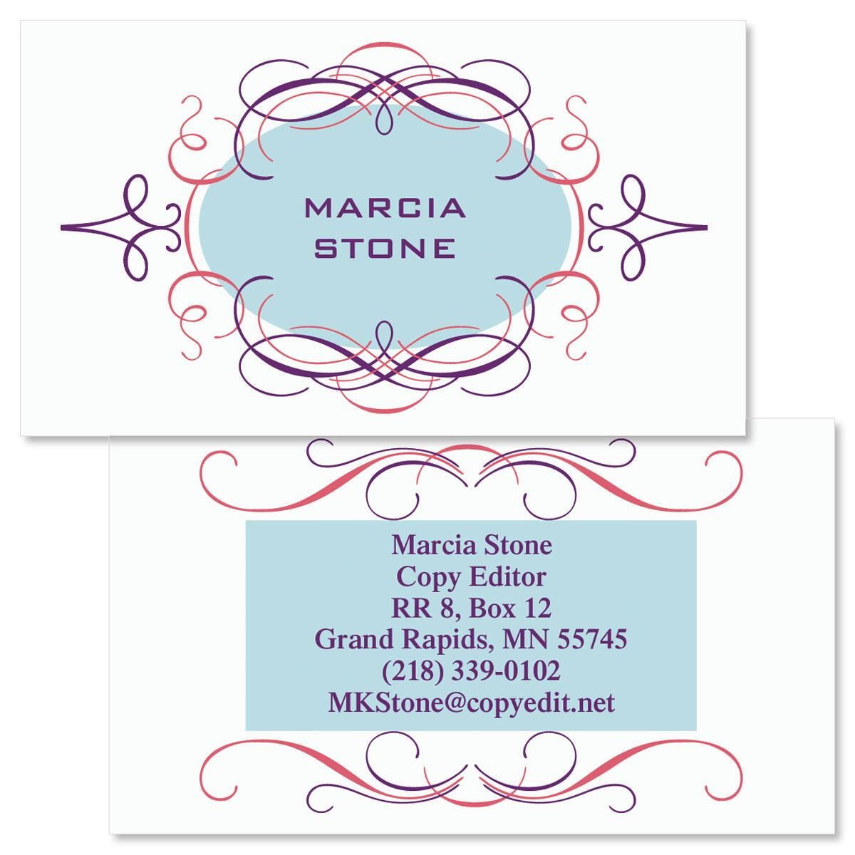 Cartouche  Double-Sided  Business Cards