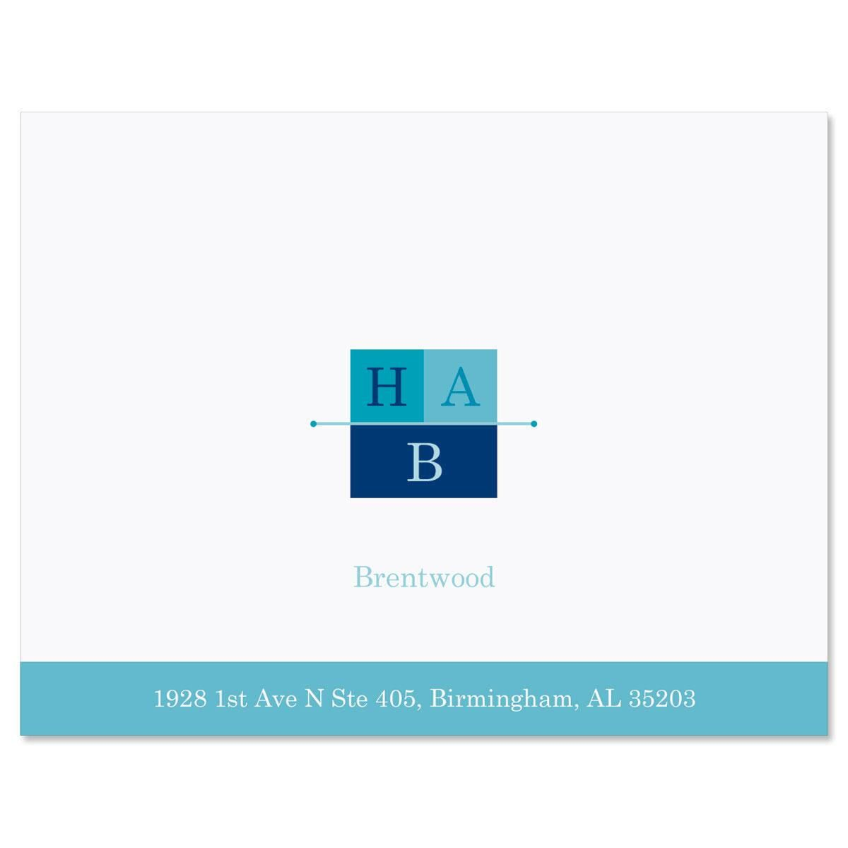 3-Initials Custom Note Cards
