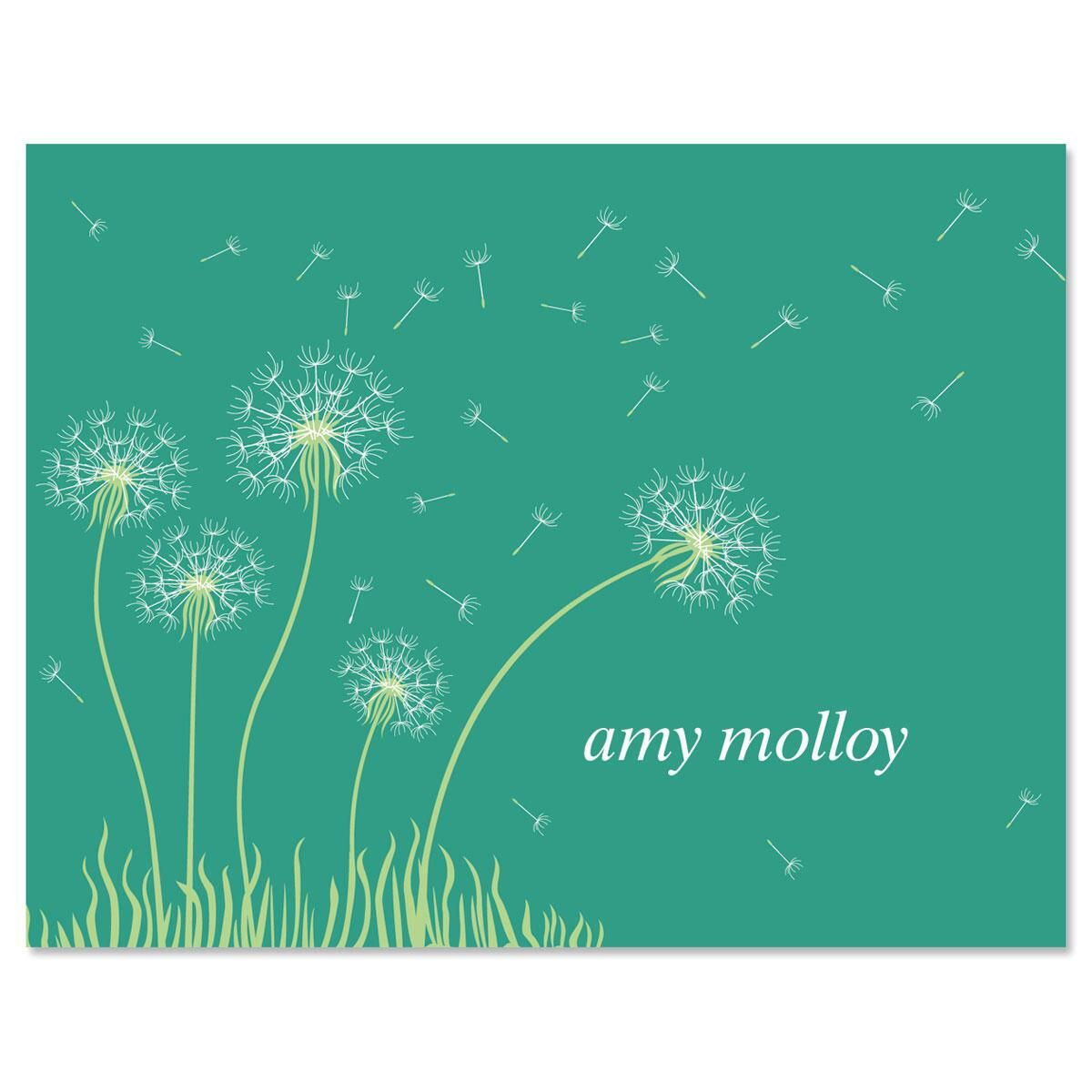 Dandelion  Custom Note Cards