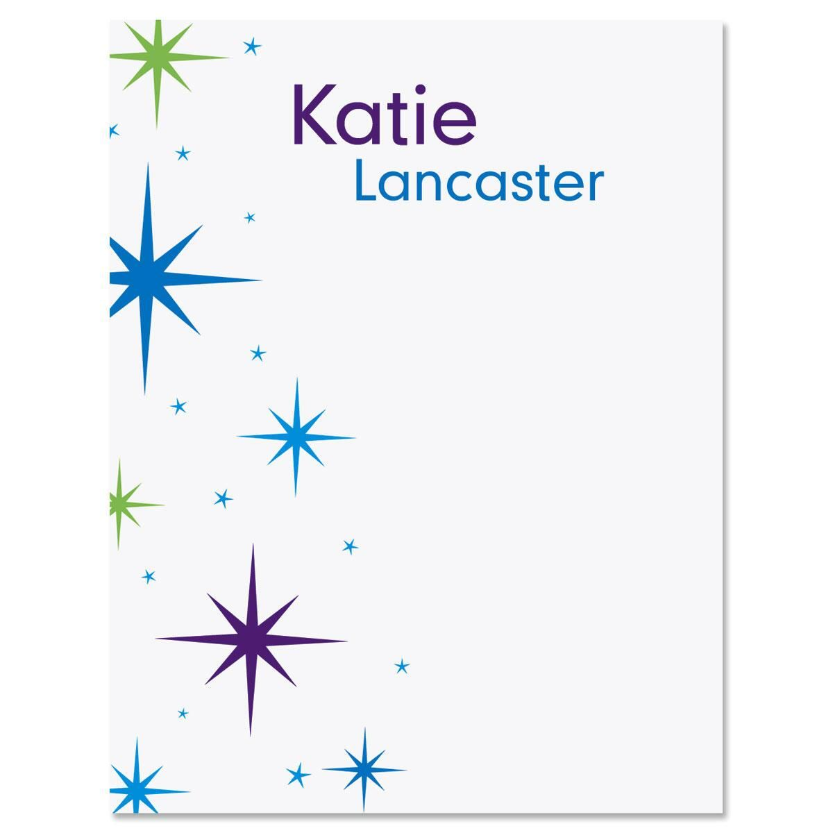 Star Struck Personalized Note Cards