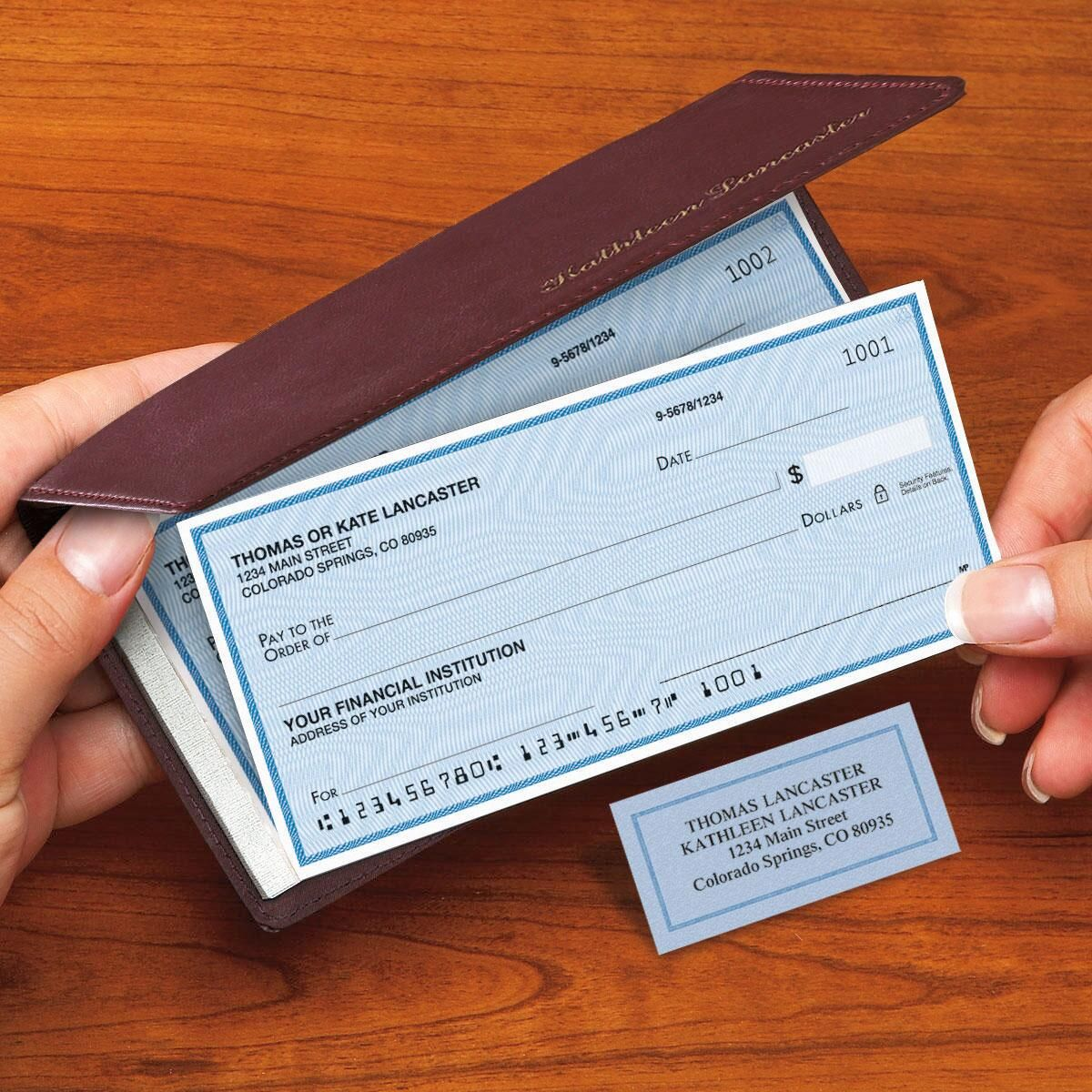 Security Blue Side-Tear Duplicate Checks with Matching Address Labels