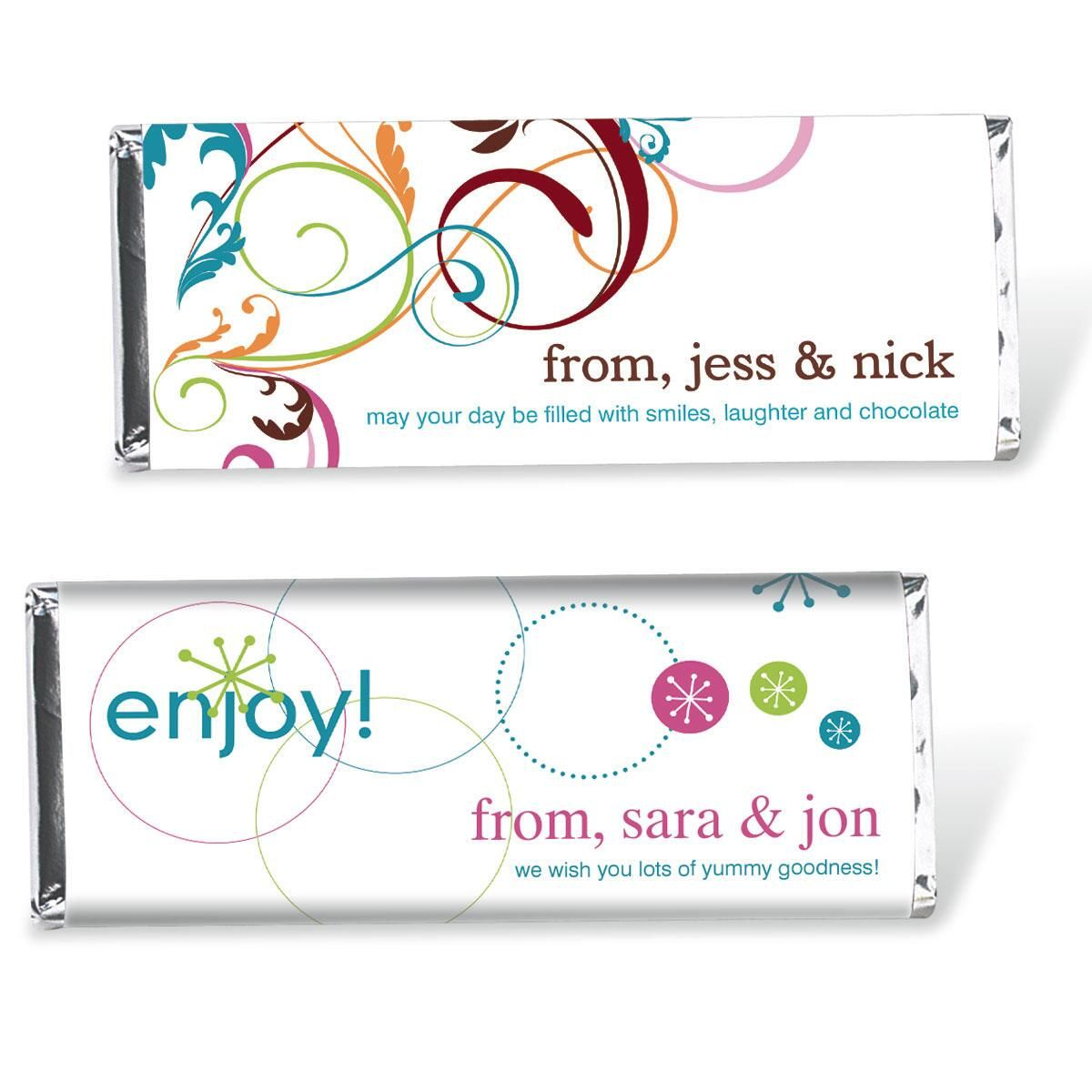 Snowflake Sparkle Candy Bar Wrappers