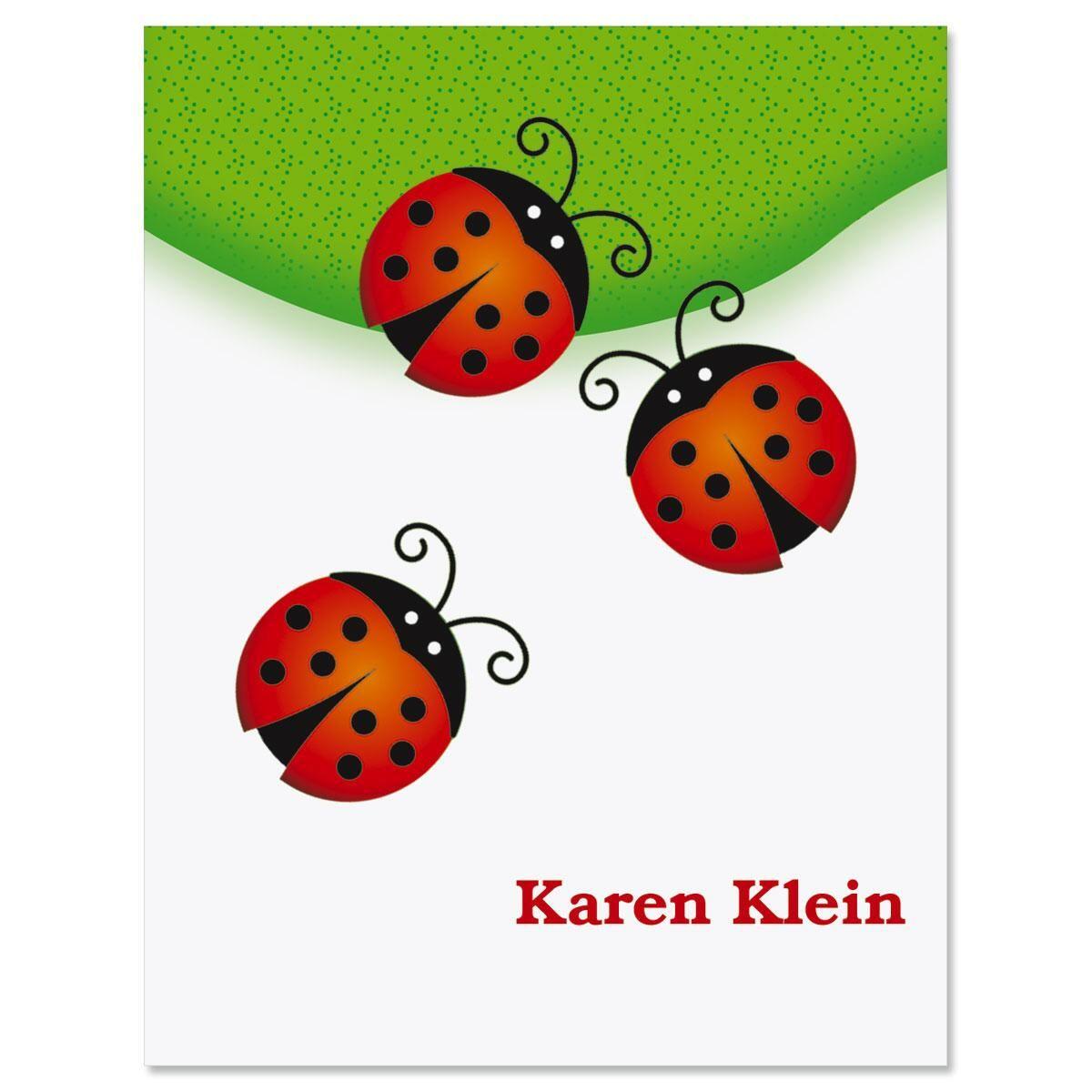 Ladybug Personalized Note Cards