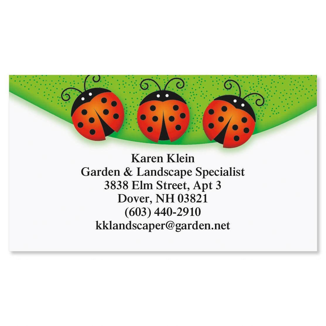 Ladybug Business Cards