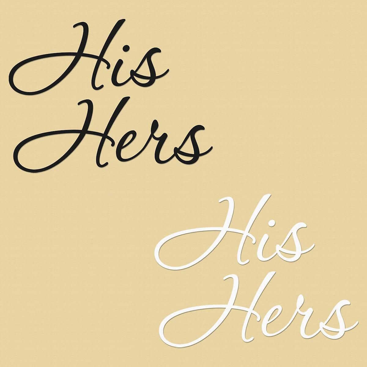 His Hers Vinyl Wall Art | Colorful Images