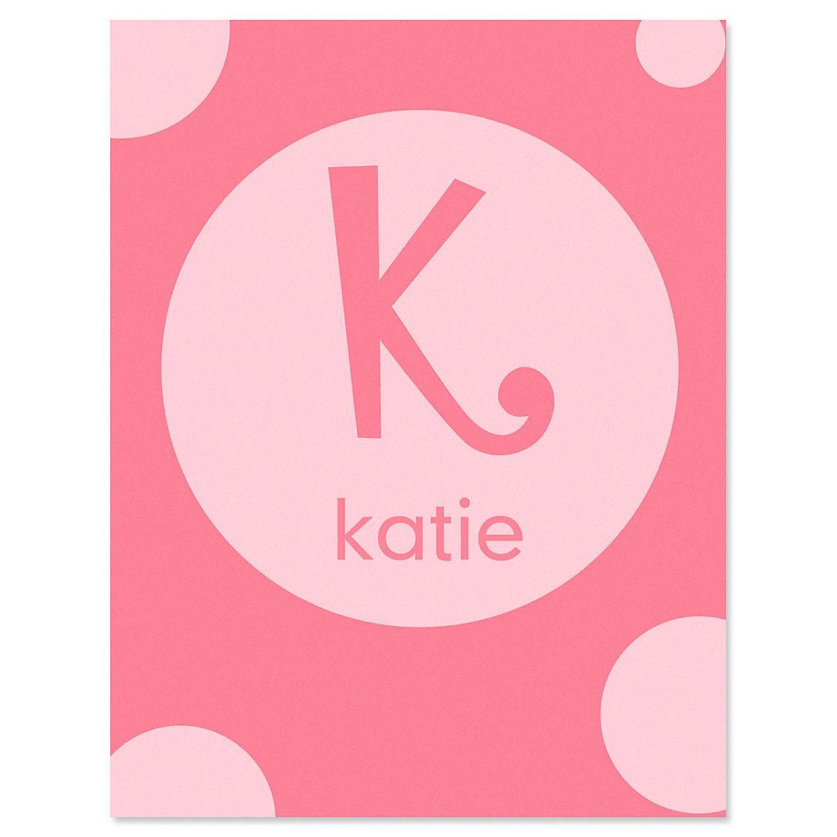 Alphabet Name  Personalized  Note Cards