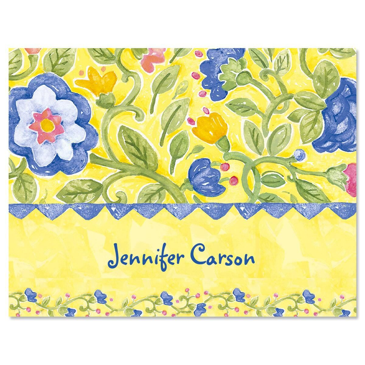 Tuscan Sun Personalized Note Cards