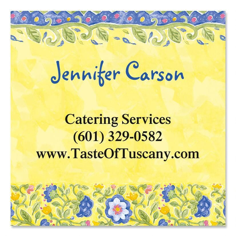 Tuscan Sun Square Business Cards
