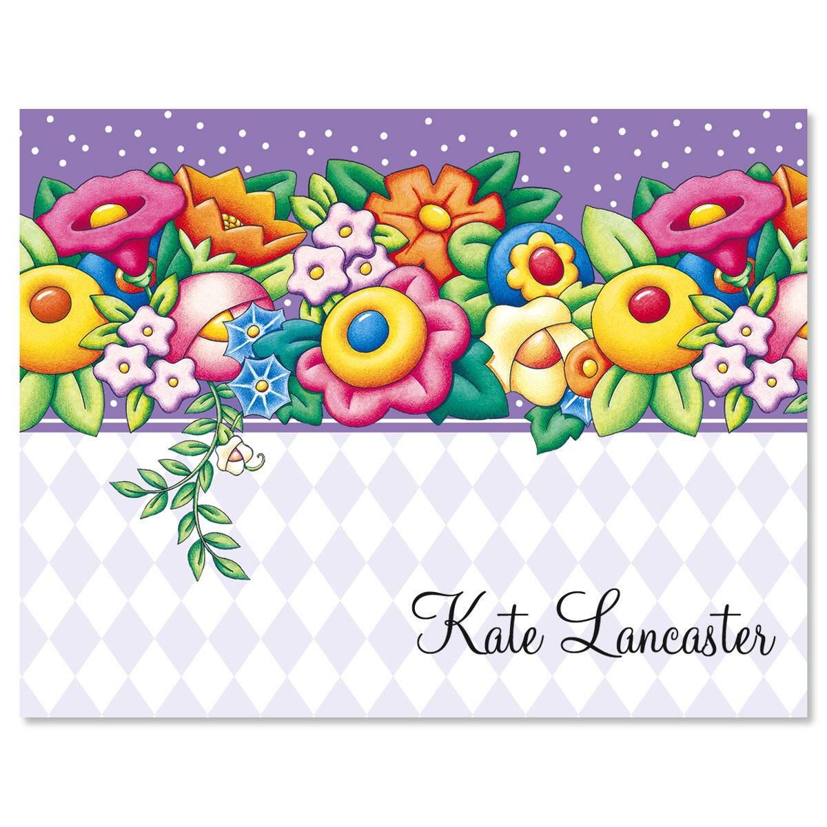 Blossom Personalized Note Cards by Mary Engelbreit®