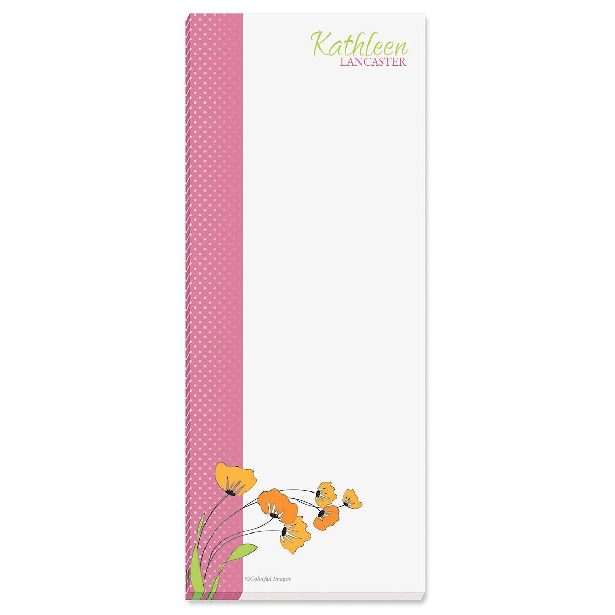 Wild Poppies Memo Pads  (3 colors)