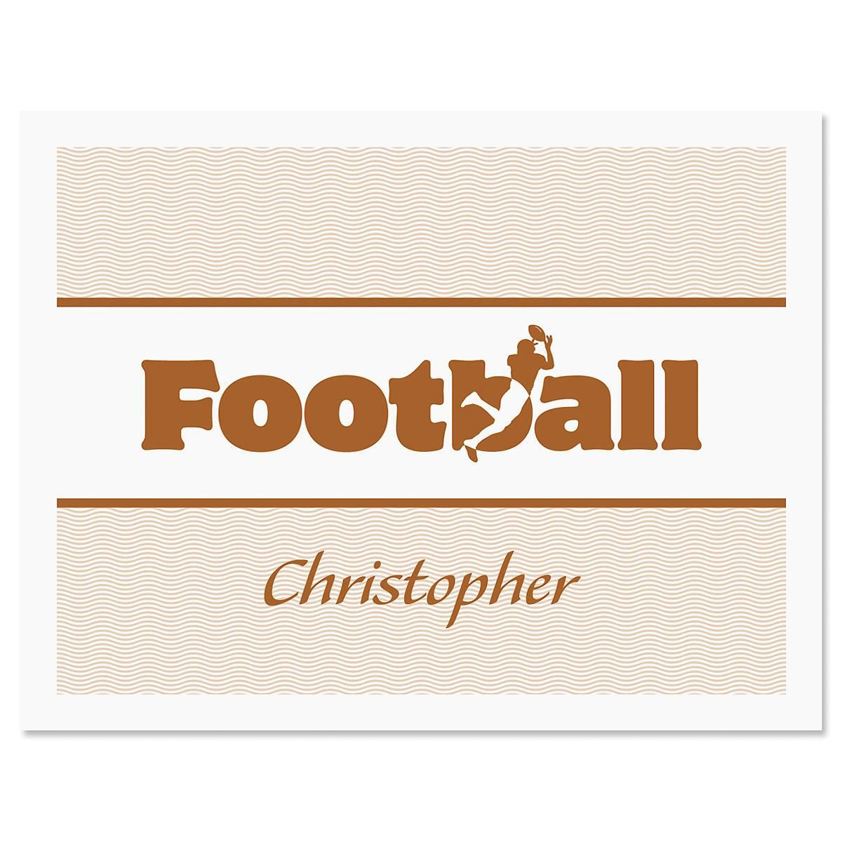 Sports  Personalized  Note Cards