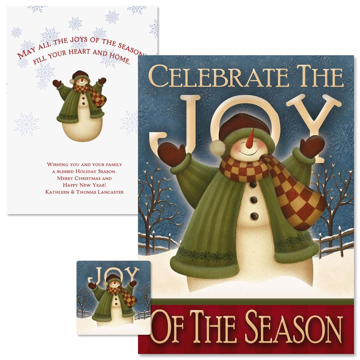 Celebrate Christmas Cards -  Personalized