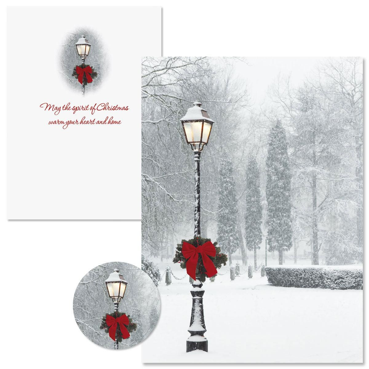 Snowy Holiday Christmas Cards  -  Nonpersonalized