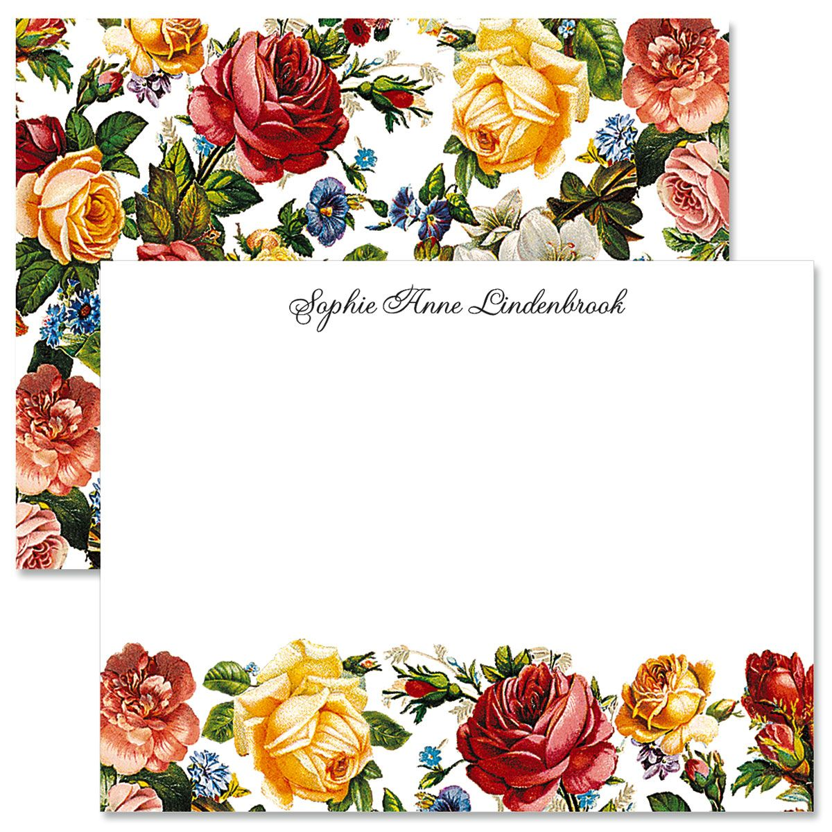 Victorian Roses Custom Note Cards