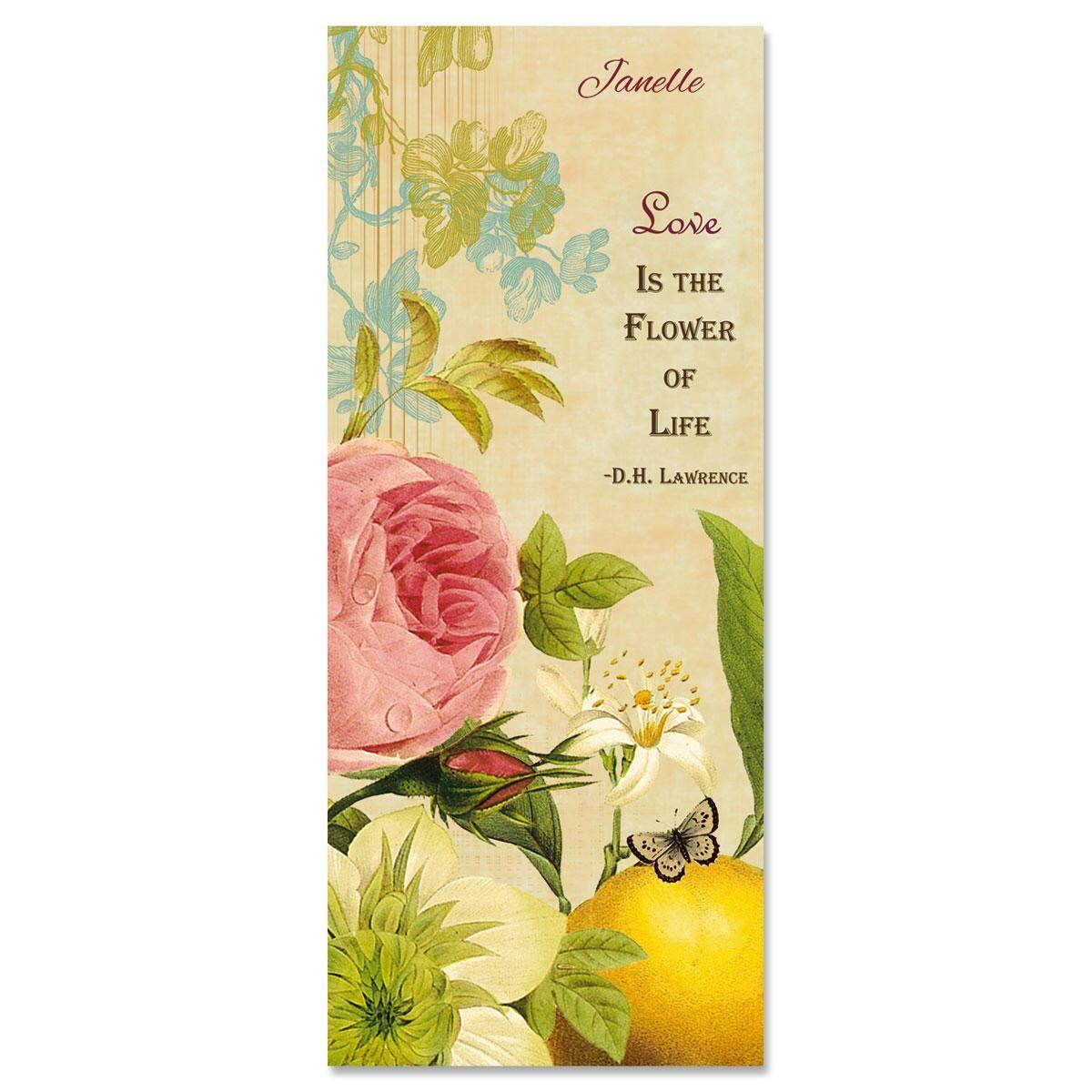 Nature's Flora Slimline Custom Note Cards