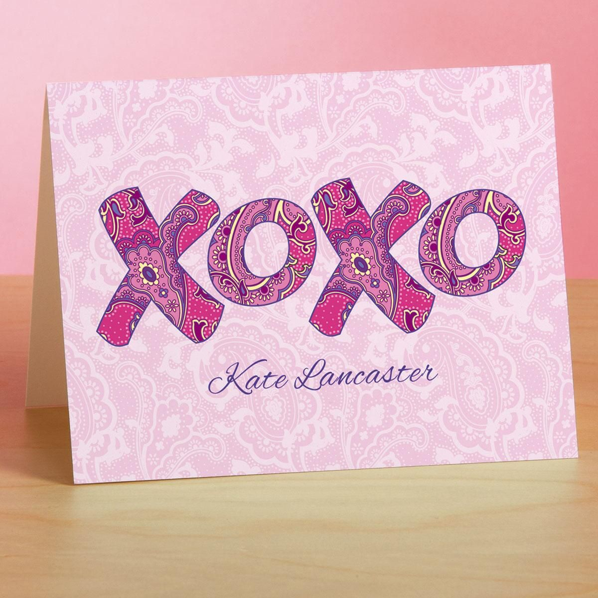 XOXO Custom Note Cards