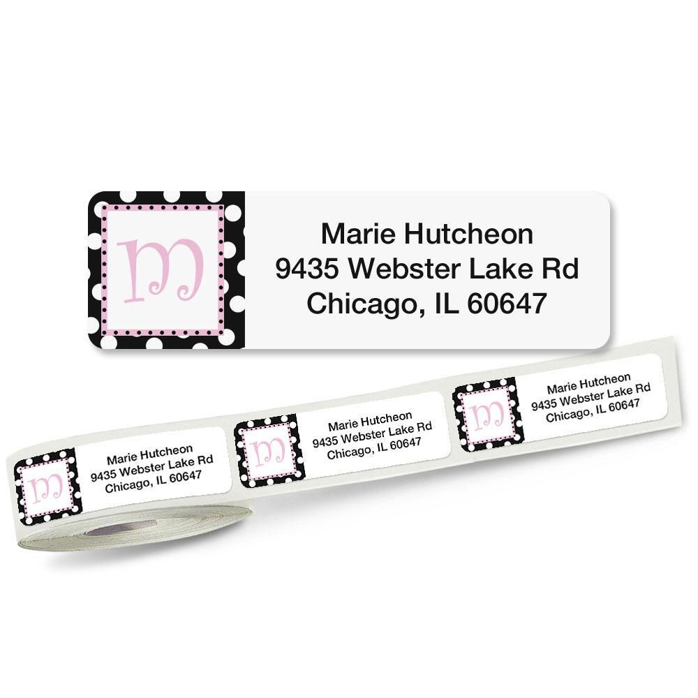 Leeza Initial Rolled Return Address Labels