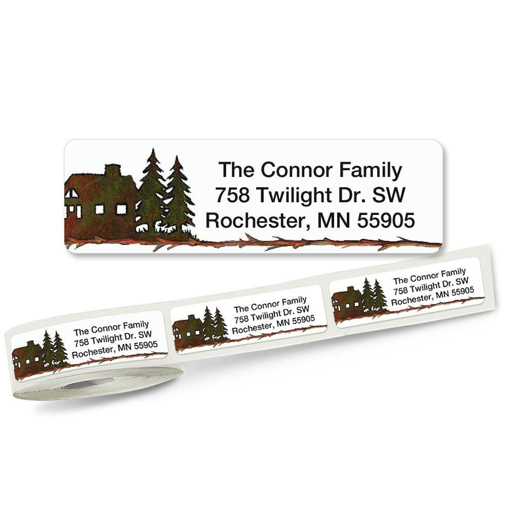 Country Lodge Rolled Address Labels