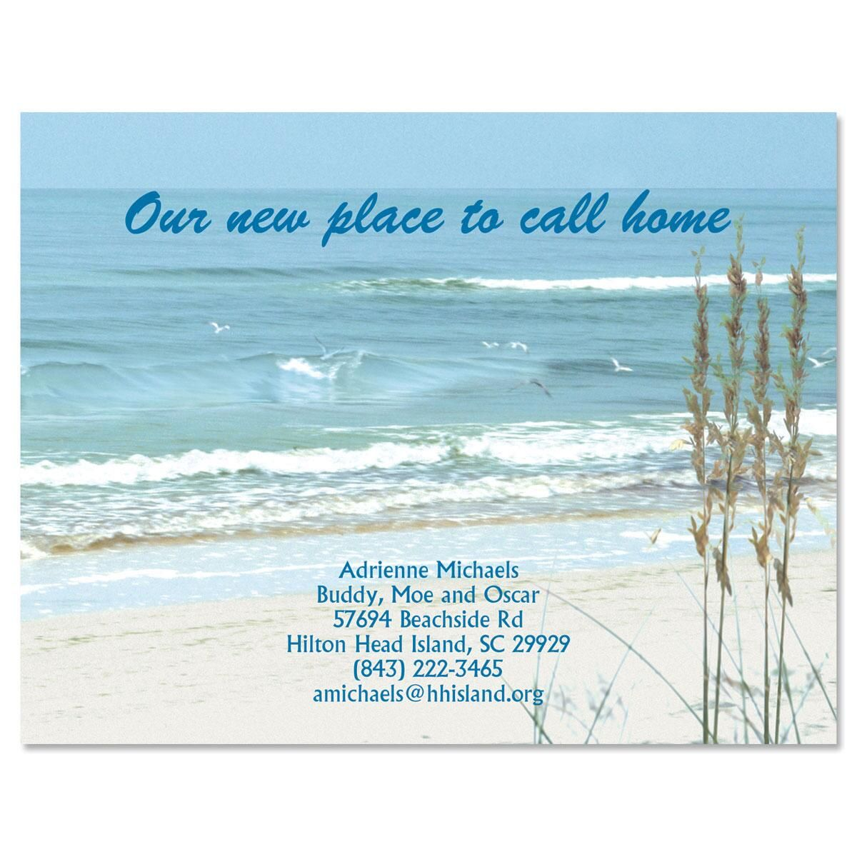 Seashore New Address Postcards