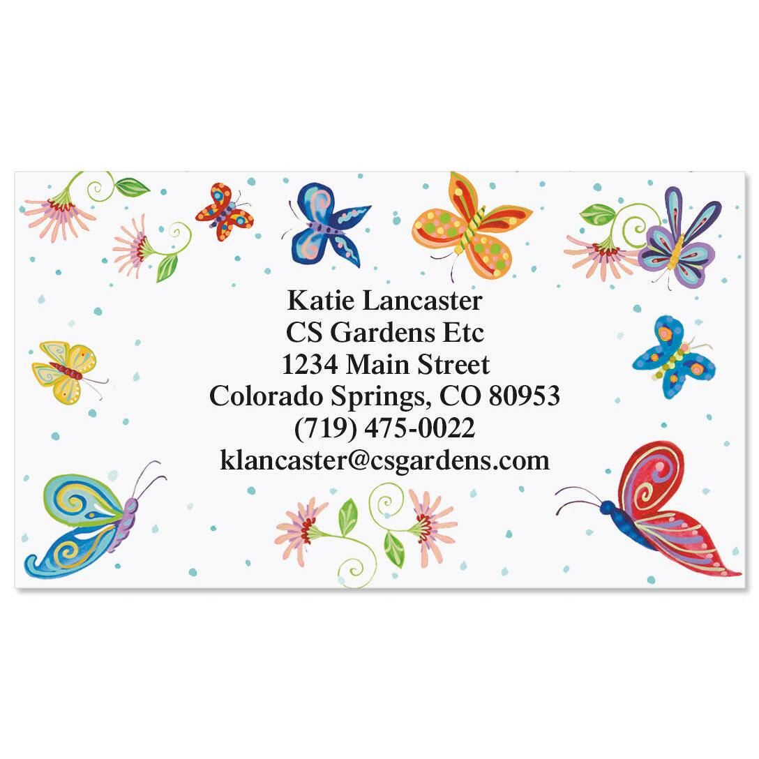 Floral Butterflies  Business Cards