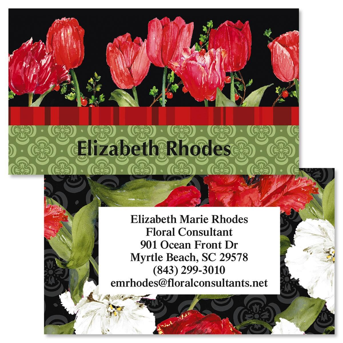 Tulip Time Double-Sided  Business Cards