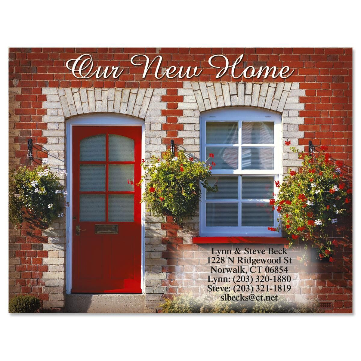 Red Door New Address Postcards