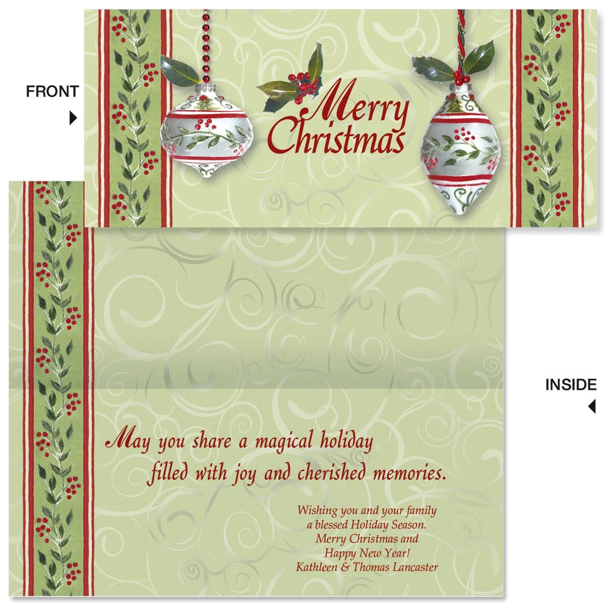Winterberry Slimline Holiday Cards