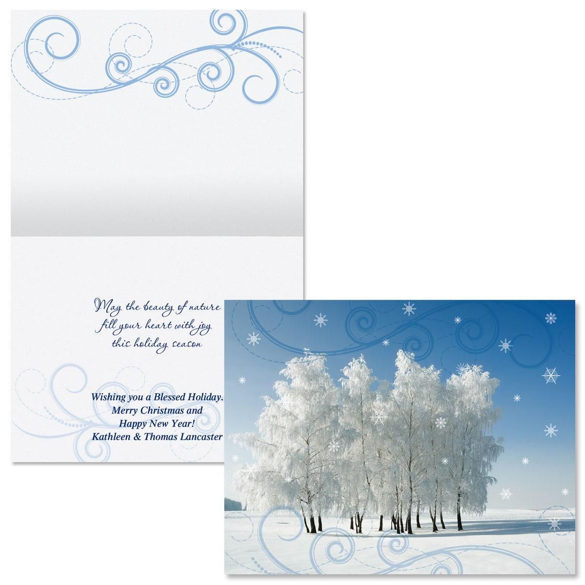 Cold Winter Day  Note Card Size Christmas Cards