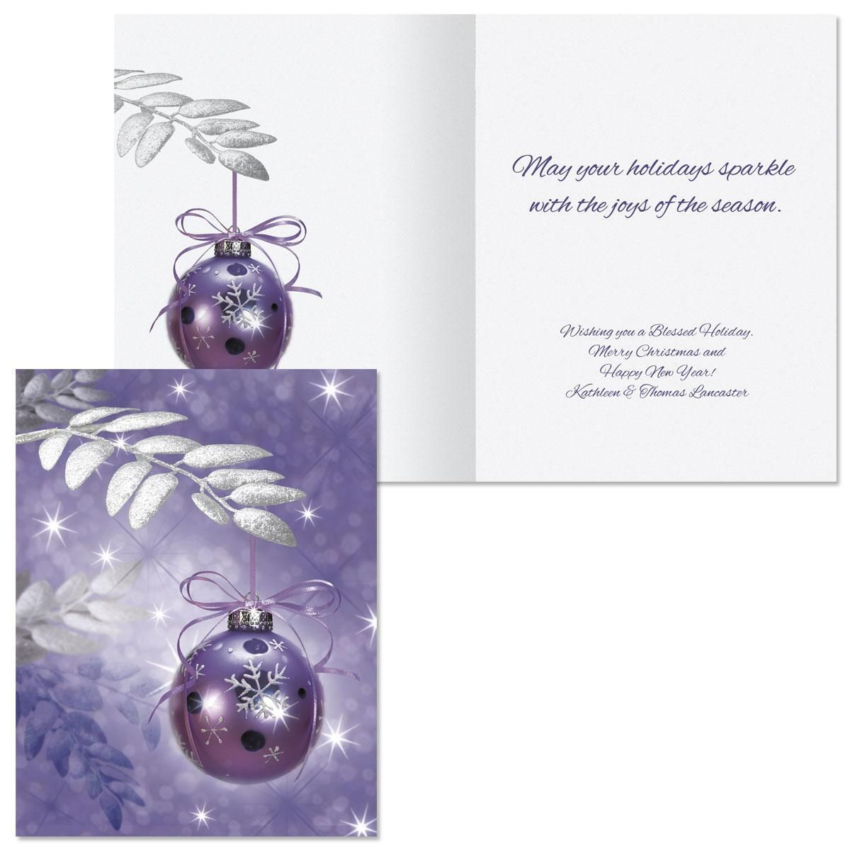 Symphony in Purple  Note Card Size Christmas Cards